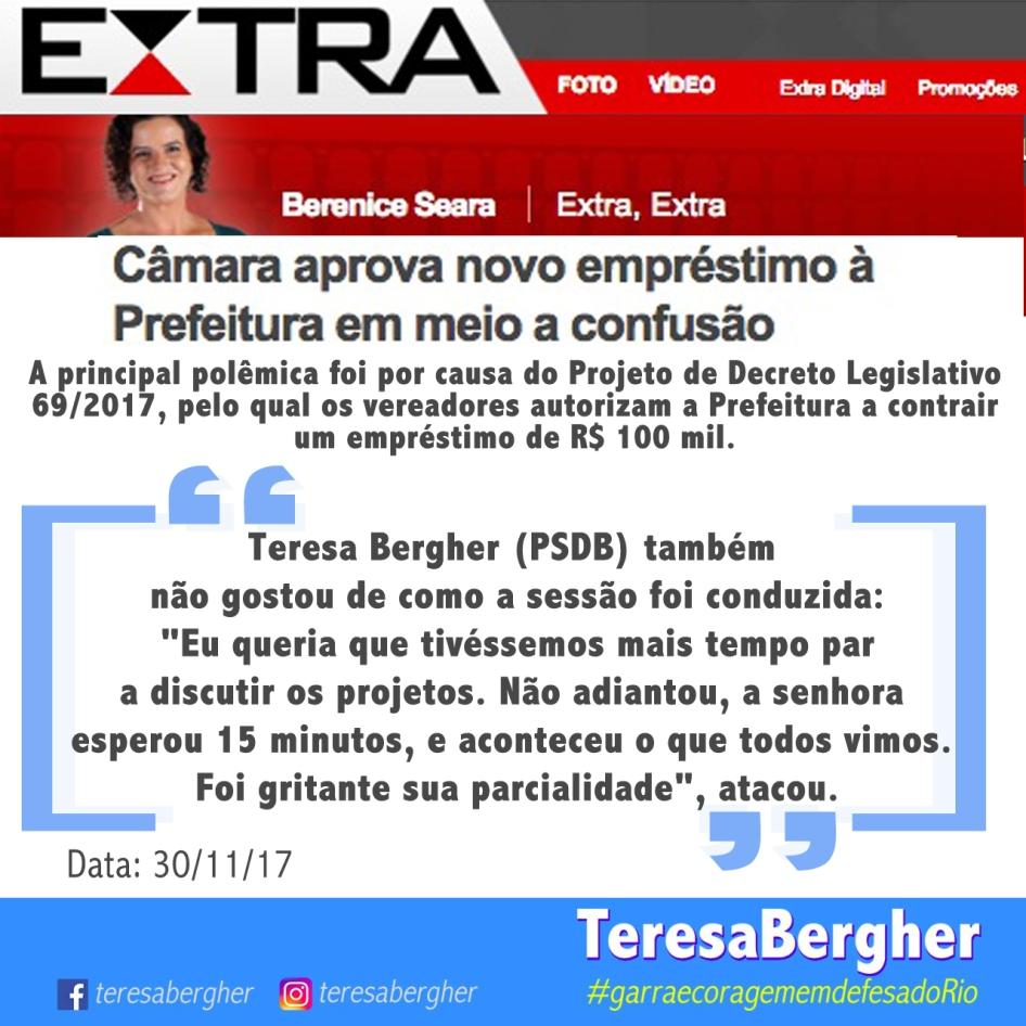 30/11/17 - EXTRA_Berenice Seara
