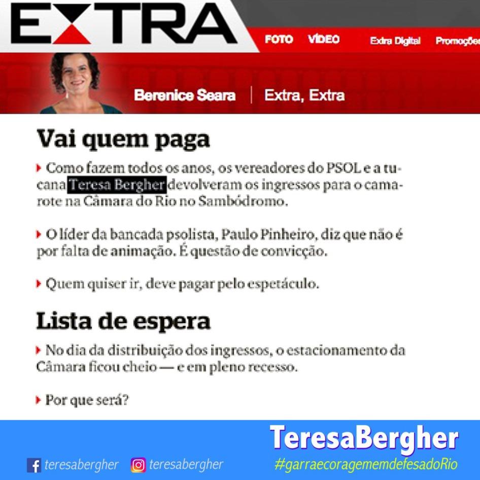08/02/18 - EXTRA_Berenice Seara