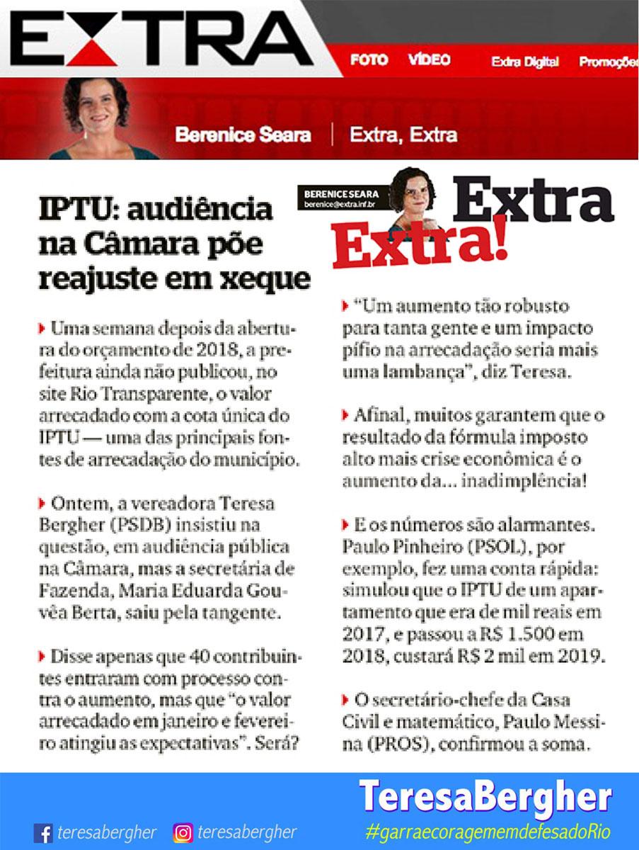 01/03/18 - EXTRA_Berenice Seara