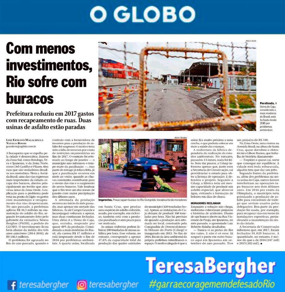 08/03/18 - O Globo