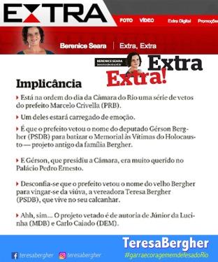 20/03/2018 - EXTRA_Berenice